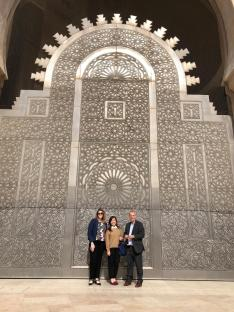 The tile work is exquisite at the Hassan II Mosque in Casablanca.