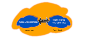 Hybrid access to Microservice